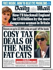 Daily Mail (UK) Newspaper Front Page for 21 April 2015