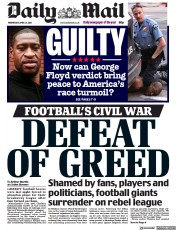 Daily Mail front page for 21 April 2021