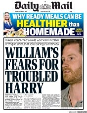Daily Mail (UK) Newspaper Front Page for 22 October 2019