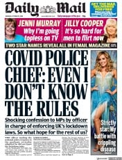 Daily Mail front page for 22 October 2020
