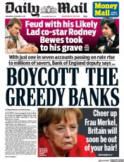 Daily Mail (UK) Newspaper Front Page for 22 November 2017
