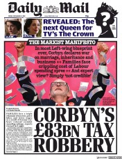 Daily Mail (UK) Newspaper Front Page for 22 November 2019