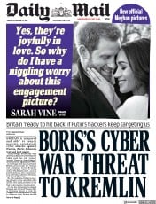 Daily Mail (UK) Newspaper Front Page for 22 December 2017