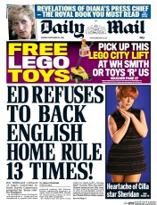 Daily Mail (UK) Newspaper Front Page for 22 September 2014