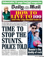 Daily Mail (UK) Newspaper Front Page for 23 October 2017