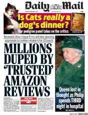 Daily Mail (UK) Newspaper Front Page for 23 December 2019