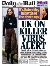 Daily Mail () Newspaper Front Page for 23 January 2020