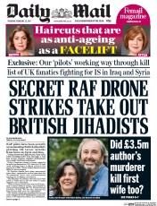 Daily Mail (UK) Newspaper Front Page for 23 February 2017