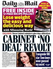 Daily Mail () Newspaper Front Page for 23 February 2019