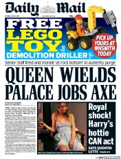 Daily Mail (UK) Newspaper Front Page for 23 May 2015