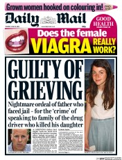 Daily Mail () Newspaper Front Page for 23 June 2015