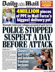 Daily Mail front page for 23 June 2020