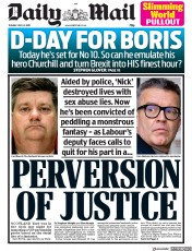 Daily Mail (UK) Newspaper Front Page for 23 July 2019