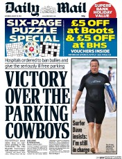 Daily Mail (UK) Newspaper Front Page for 23 August 2014