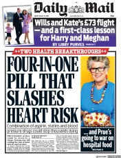 Daily Mail (UK) Newspaper Front Page for 23 August 2019