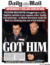 Daily Mail () Newspaper Front Page for 24 January 2019
