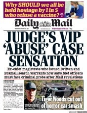 Daily Mail front page for 24 February 2021