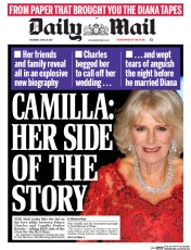 Daily Mail (UK) Newspaper Front Page for 24 June 2017