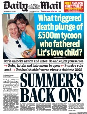 Daily Mail front page for 24 June 2020