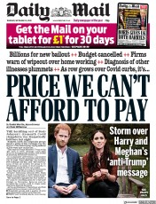 Daily Mail front page for 24 September 2020