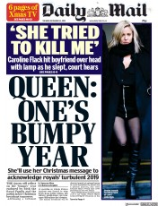 Daily Mail (UK) Newspaper Front Page for 25 December 2019