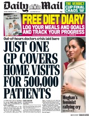 Daily Mail () Newspaper Front Page for 25 February 2019