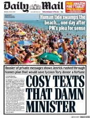 Daily Mail front page for 25 June 2020