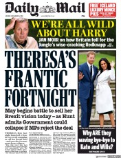 Daily Mail (UK) Newspaper Front Page for 26 November 2018