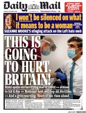 Daily Mail front page for 26 November 2020