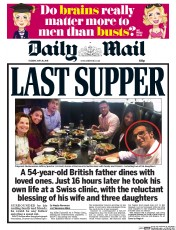 Daily Mail (UK) Newspaper Front Page for 26 May 2015