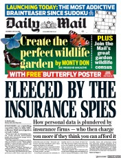 Daily Mail (UK) Newspaper Front Page for 26 May 2018