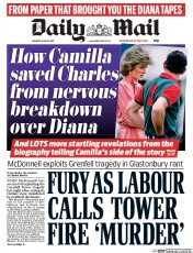 Daily Mail (UK) Newspaper Front Page for 26 June 2017