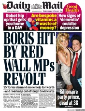 Daily Mail front page for 27 October 2020