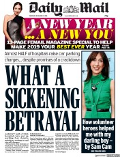 Daily Mail (UK) Newspaper Front Page for 27 December 2018