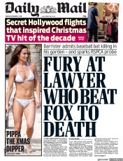 Daily Mail () Newspaper Front Page for 27 December 2019