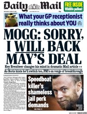 Daily Mail (UK) Newspaper Front Page for 27 March 2019