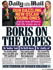 Daily Mail () Newspaper Front Page for 27 April 2021