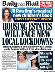 Daily Mail front page for 27 May 2020