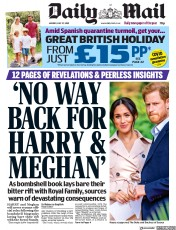 Daily Mail front page for 27 July 2020