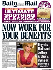Daily Mail (UK) Front Page for 27 September 2013 ... Daily Mail Uk