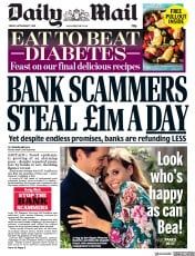 Daily Mail (UK) Newspaper Front Page for 27 September 2019