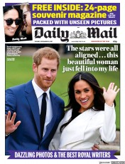 Daily Mail (UK) Newspaper Front Page for 28 November 2017