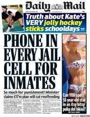 Daily Mail (UK) Newspaper Front Page for 28 December 2018