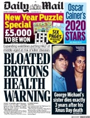 Daily Mail () Newspaper Front Page for 28 December 2019