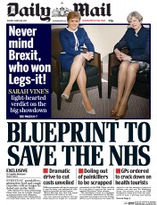 Daily Mail (UK) Newspaper Front Page for 28 March 2017