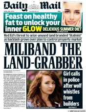 Daily Mail (UK) Newspaper Front Page for 28 April 2015