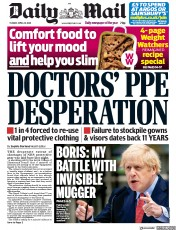 Daily Mail (UK) Newspaper Front Page for 28 April 2020