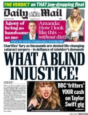 Daily Mail (UK) Newspaper Front Page for 28 May 2018