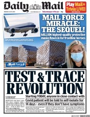 Daily Mail front page for 28 May 2020