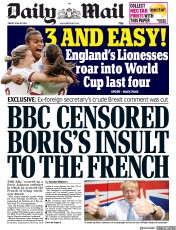 Daily Mail (UK) Newspaper Front Page for 28 June 2019